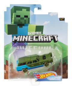 Zombie | Minecraft 6/7 | Character Cars | Hot Wheels