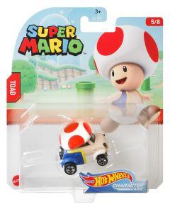 Toad | Super Mario 5/8 | Character Cars | Hot Wheels