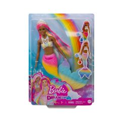 Rainbow Magic Mermaid Doll with Rainbow Hair and Water-Activated Color Change Feature | Dreamtopia | Barbie