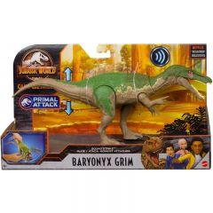 Baryonyx Grim  Sound Strike Action Figure   Jurrassic World   Camp Cretaceous   Primal Attack
