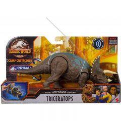 Triceratops Sound Strike Action Figure | Jurassic World | Camp Cretaceous | Primal Attack