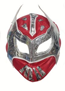 Lucha Libre Style Wrestling Mask | Red & Silver