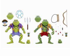 Genghis and Rasputin Frog    Action Figure 2 Pack   Teenage Mutant Ninja Turtles Cartoon   NECA