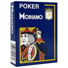 Plastic Poker Playing Cards   Blue   Modiano