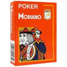 Plastic Poker Playing Cards   Orange   Modiano