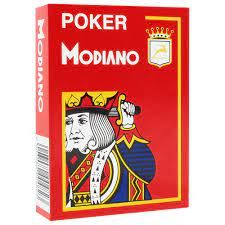 Plastic Poker Playing Cards   Red   Modiano