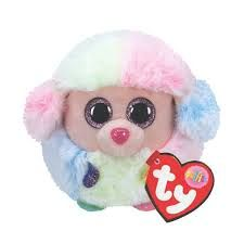 Rainbow Poodle Puffies - TY