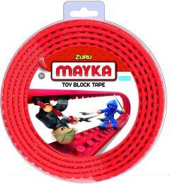 Red 2 Stud Mayka Toy Block Tape