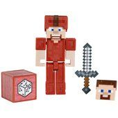Steve In Red Armor - Minecraft Comic Maker Action Figure