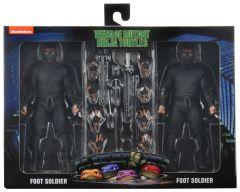 Foot Soldier 2 Pack  With Weapons Rack | Teenage Mutant Ninja Turtles 1990 Movie | NECA
