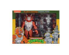 Triceraton And Roadkill Rodney   Action Figure 3 Pack   Teenage Mutant Ninja Turtles Cartoon   NECA